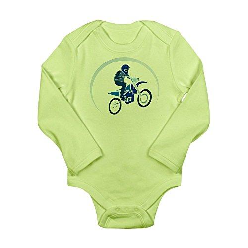 (Truly Teague Long Sleeve Infant Bodysuit Motocross MX Flying Dirt Bike in Blue - Kiwi, 3 to 6 Months)