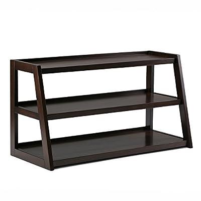 Simpli Home Sawhorse TV Media Stand, Dark Chestnut Brown -  - tv-stands, living-room-furniture, living-room - 41172Vkj8JL. SS400  -
