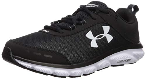 Under Armour Men's Charged Assert 8 Running Shoe, Black (001)/White, 13