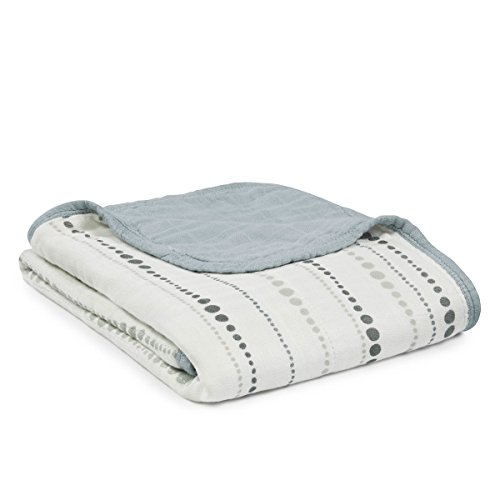 aden + anais silky soft stroller blanket, moonlight
