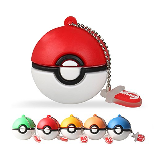 Pokemon Ball Design USB Flash Drive 16GB (Red) - 1
