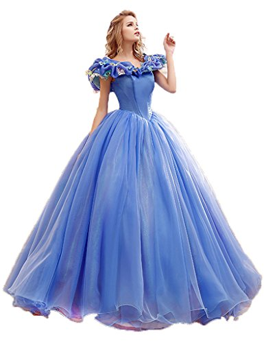 Dress U Ball Gown Quince Dress Cinderella Dresses Blue US 14
