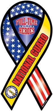 U.S. National Guard Ribbon Magnet- Full-Time Heroes