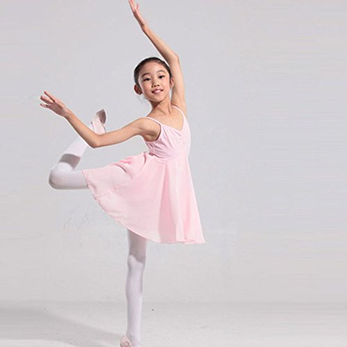 hsn_zen Baby Kid Girl Sleeveless Gymnastic Leotard Dance Dress Ballet Skating Tutu Skirt (pink, -
