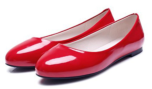 Women's Red Aisun Low On Comfy Shoes Top Slip Flats FwRqdw8x