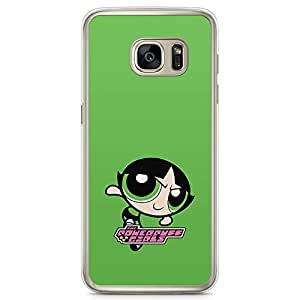 Loud Universe Classic Cartoon Power Puff Girls Samsung S7 Case Green Power Puff Girl Samsung S7 Cover with Transparent Edges