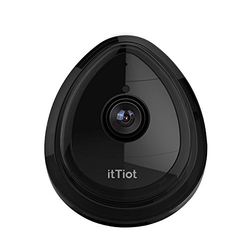 itTiot Wireless IP Camera, WiFi Security 720P Home IP Camera for Pet Monitor with Built-in Microphone, One Way Audio, Day Vision Only (Black) by itTiot