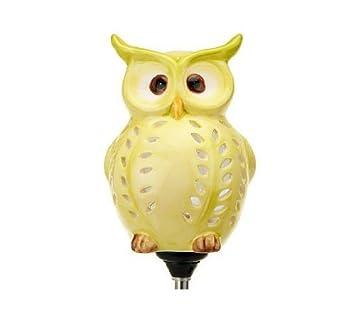 Cute Little Owl Garden Decoration, Best Solar Owl Stake And Solar Owl Light,  Ceramic