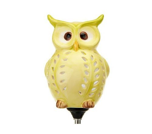 Cute Little Owl Garden Decoration, Best Solar Owl Stake And