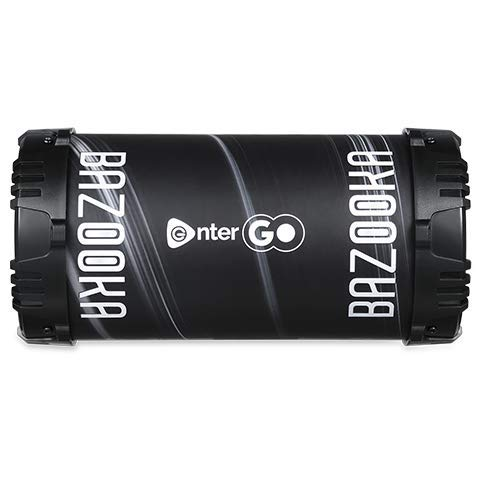 Enter Go Portable Boomer Bazooka Bluetooth LED Speaker with Microphone