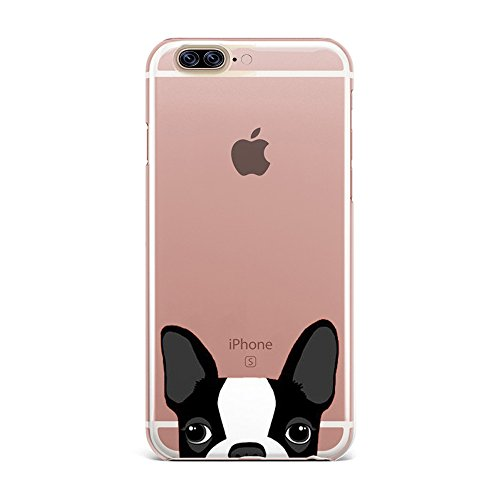 [REDshield] Apple iPhone 8/7/6S/6 Plus TPU Case, [Boston Terrier] Slim & Flexible Anti-shock Crystal Silicone Protective TPU Gel Skin Case Cover