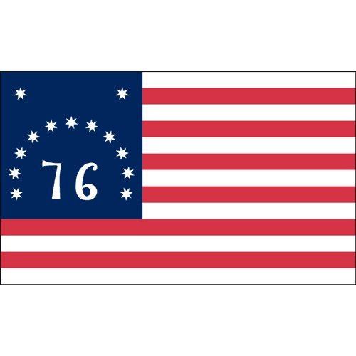 US Flag Store Bennington Nylon Flag, 3 by 5-Feet (Flag 1776 Bennington)