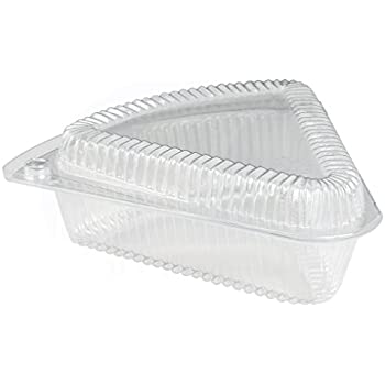 Hinged Medium Shallow Plastic Pie/Cheesecake/Cake Slice Container for 9 inch Pies by  sc 1 st  Amazon.com & Amazon.com: Hinged Medium Shallow Plastic Pie/Cheesecake/Cake Slice ...
