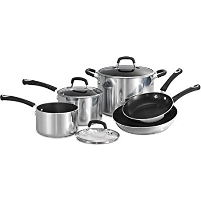 Tramontina Style 8-Piece Aluminum Non-stick Polished Cookware Set