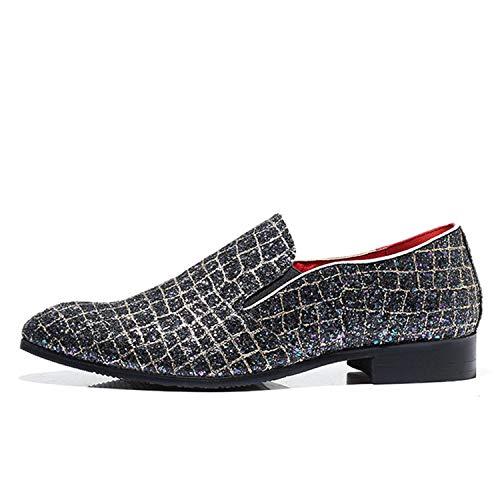 Uomo Size Eleganti Shoe Affascinanti Uomo Mocassini Plus Scarpe Performing da Successg Black Loafers Scarpe Mocassini Uomo Paillettes 6qXnUST