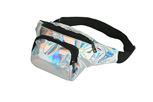 583a4e7e519 BFD One metallic shiny bumbag bum bag running belt waiste pack fanny pack  hip pouch for men or women one size fits all.