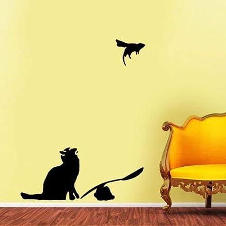 Ideal Stencils Banksy Plantilla - Ratapult Gato y Rat | Tamaño Real Cat 34cm Alto/Reutilizable Decoración Hogar & Artesanía Pintura Plantilla - Semitransparente Plantilla, Cat 34CM High: Amazon.es: Bricolaje y herramientas