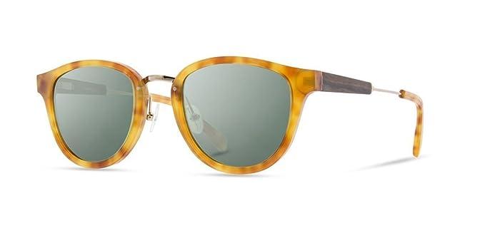 2ad97822d19b Amazon.com  Shwood - Ainsworth Round Acetate   Wood Sunglasses ...