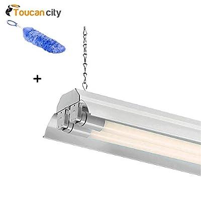Toucan City Flexible Static Duster and EnviroLite 4 ft. 2-Light White LED Shop Light with T8 LED 4000K Tubes SL602T1840