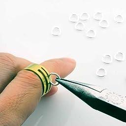 BEADNOVA Silver Plated Open Jump Ring 3mm 4mm 5mm 6mm 7mm 8mm 2000pcs Box Set with Free Jump Ring Open Tool (2000pcs Box Set)