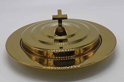 Brasstone Stainless Steel Communion Bread Tray Set