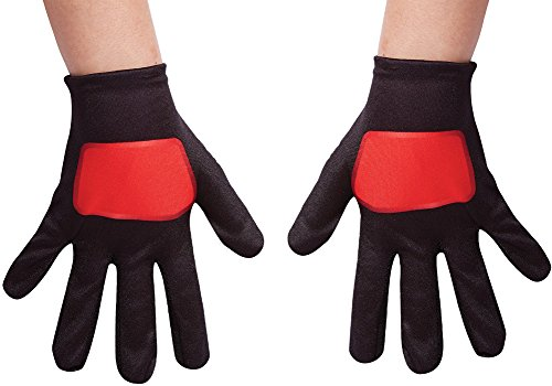 Red Power Rangers Ninja Steel Child Gloves, One Size (Girl Power Ranger Costume)
