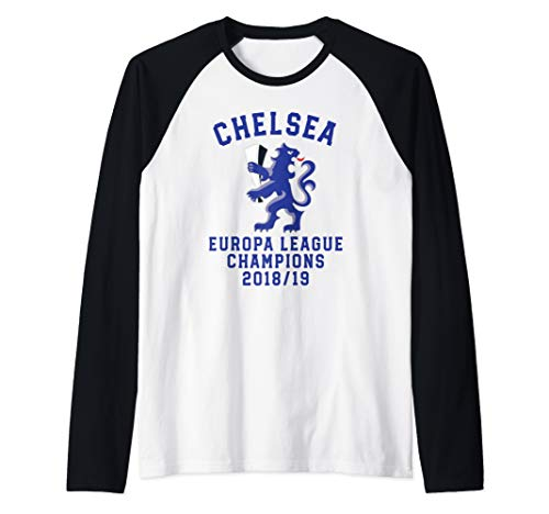 Chelsea Soccer Jersey Europa Champions Blues Gift Raglan Baseball ()