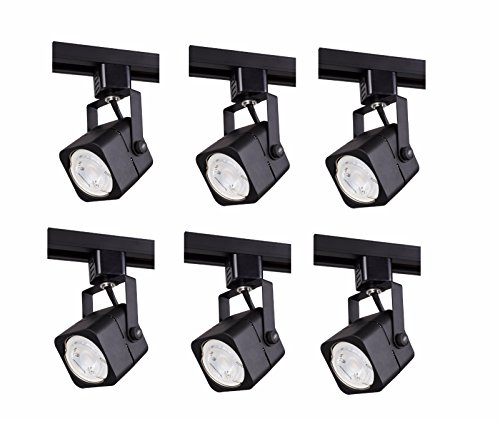Elitco Lighting TKH210BK-6PK Matte Black Track Head, 120V, FITS GU10, (Light Source NOT Included) L2.94