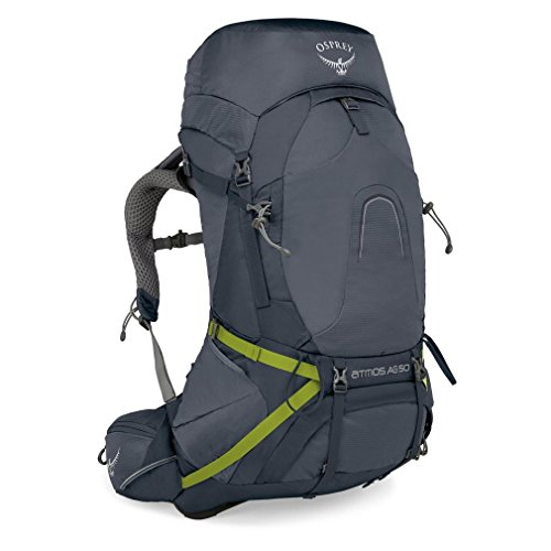 Osprey Packs Atmos Ag 50 Backpacking Pack, Abyss Grey, Large ()