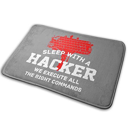 Yangkun Sleep What A Hacker Hammer Doormat, Front Welcome Anti-Skid Absorbent Moisture Entrance Rug Floor Mats Indoor Outdoor Rug for Entrance, Door Floormat