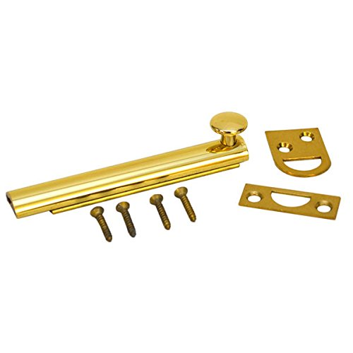 Colonial 4 Inch Polished Brass Marine Boat Surface Door Bolt Latch 904-3 by Colonial