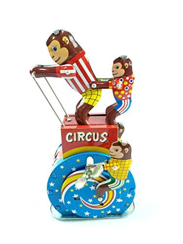 Tin toys new collection metal wind up models monkey circus wind-up model mechanical toys home (Mechanical Monkey)