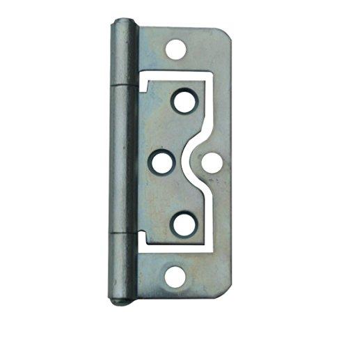 (Bulk Hardware BH03828 Bright Zinc Plated Flush Hinge, 75 mm (3 inch) - Pack of 2)
