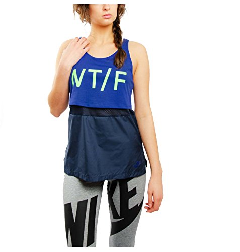 Nike Women's Track and Field Run Crew Tank Top-Deep Royal Blue-Small