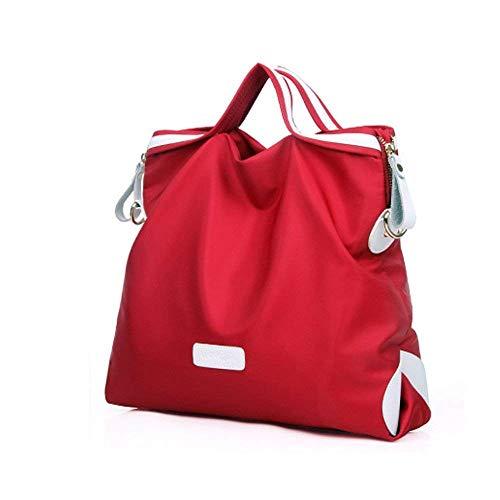 Portable Rouge Fourre Sac Nylon Sac Tout Sac D'ordinateur Noir Messenger Sac Taille Rouge coloré Femme Maman Imperméable Sac wOwvS