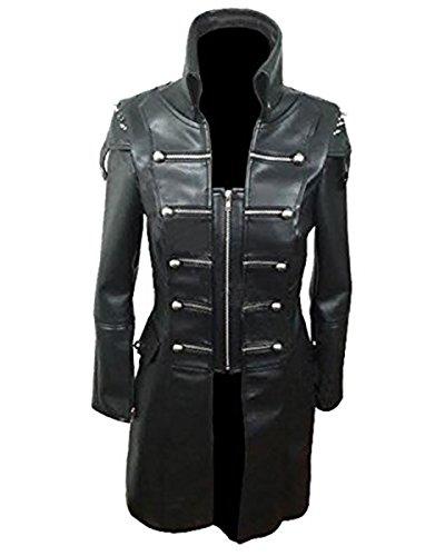 Leather Abrigo mujer para Negro Addicts rwnvxrOZSq