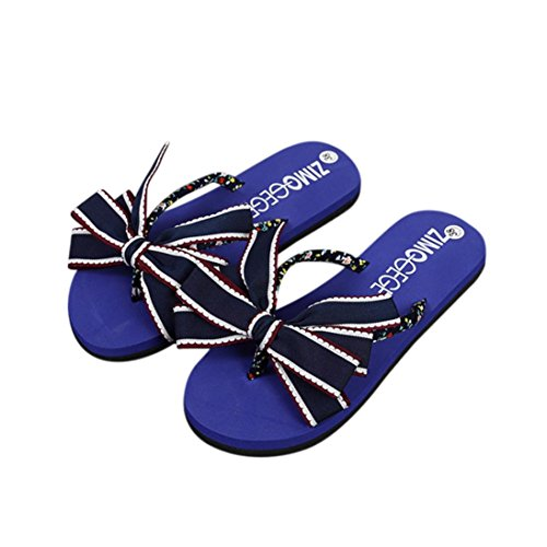 Bescita EVA Vestir Mujer de Para Azul Sandalias Goma de rBqCcrzZ
