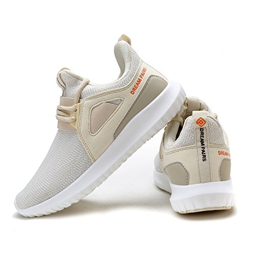 DREAM PAIRS Womens 170362-W Fashiong Running Shoes Sneakers Beige Orange Jz85Nei