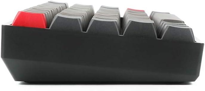 Teclado mec/ánico para videojuegos con retroiluminaci/ón RGB y sublimaci/ón de calor PBT 60/% de teclas, Bluetooth 5.1, inal/ámbrico, doble modo Epomaker SK64 gris//negro Gateron Brown Switch