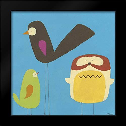 Feathered Friends IV 28x28 Modern Black Wood Framed Art Print by Vess, June Erica