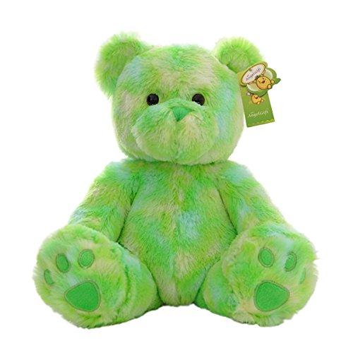"""Cuddly Cute Rainbow Green Bear Toys Teddy Bear Doll 10"""" Soft Baby Stuffed Animal Toy Valentine"""