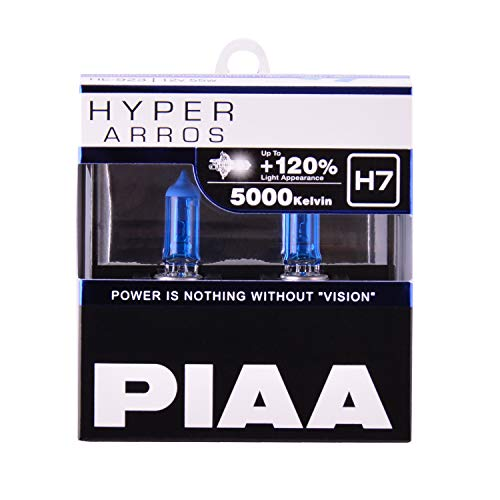 Piaa H7 Hyper ARROS Performance BULB-5000K, 2 Pack (White Plus Bulbs Headlight)