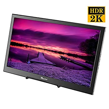 Image of Monitors Haorizi Portable Gaming Monitor 13.3 inch 2K HDR 2560x1440 High Resolution IPS Monitor Dual HDMI Interfaces Compatible with Raspberry Pi Screen Built-in Dual Speakers (13.3' 2K 2560x1440)
