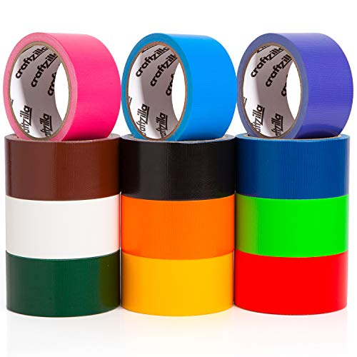 Craftzilla Colored Duct Tape - Variety Pack -12 Colors - 10...