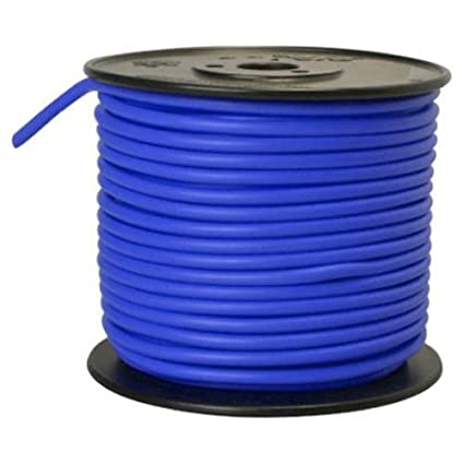 Southwire 55879923 Primary Wire, 10-Gauge Bulk Spool, 100-Feet, Blue ...