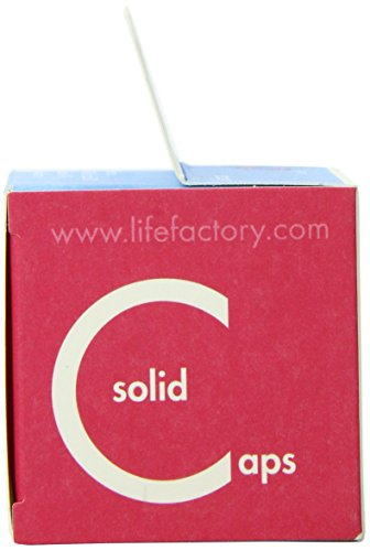 Lifefactory Flat Caps 2-Pack for 4-Ounce and 9-Ounce BPA-Free Glass Baby Bottles, White by Lifefactory (Image #4)