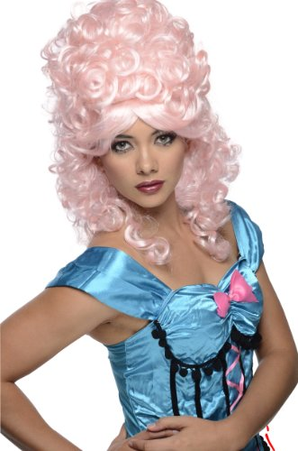 Costumes Historical Wig (Rubie's Costume Burlesque Wig, Light Pink, One)