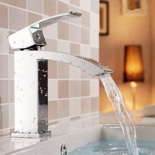 JingJingnet 洗面器ミキサータップ浴室のシンクの蛇口洗面器冷水蛇口とフル銅台座二重洗面台の蛇口 (Color : Low)) B07RZHMD7X Low)