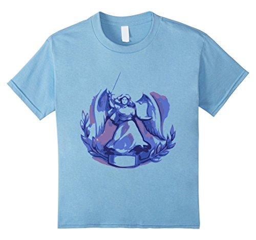 Kids Victory Goddess Symbol Sketch T-Shirt 4 Baby Blue (Victory Goddess)