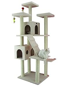 77 Classic Cat Tree In Ivory   Premium Cat Tree For Large Cats And Kittens, Cat  Furniture Bundles With Scratching Post And Cat Condo, Cheap Cat Trees And  ...
